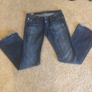 Women's Big Star wide flared jeans.